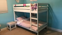 White wooden bunk bed with mattress Fort Lauderdale, 33308