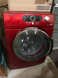red Samsung front-load clothes washer Edmonton, T6K 2W8