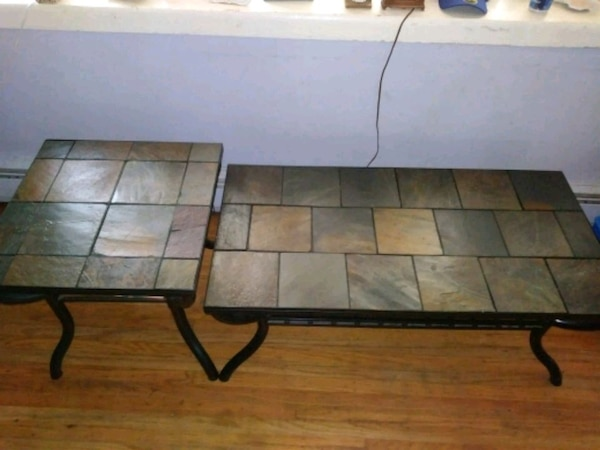 Slate Coffee Table And End