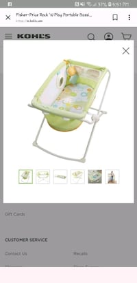 baby's white and green highchair screenshot Rockville, 20851