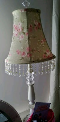 2 white and pink floral table lamps Islip, 11751