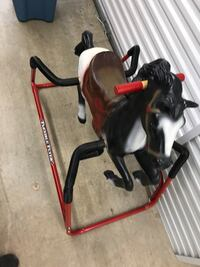 black-white-and-brown Flexible Flyer spring horse ride-on toy Chesterfield, 63017