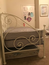 White Ornate Day Bed With 2 Mattresses  Brunswick, 21716