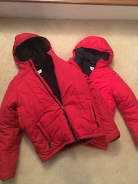 3 Lands End jackets coat kid M and L