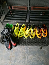 four pairs cleats 4.5 to 6 Brampton, L6S 3G8