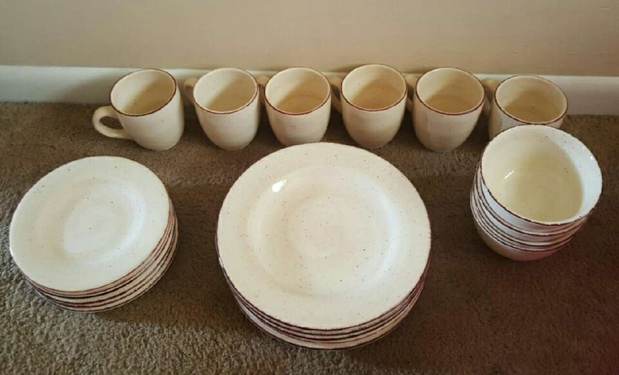 & Used Hausenware Swirl Dishes-Heavy China Set OBO in Hazel Green