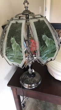 glass wolf lamp Collinsville, 74021