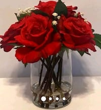 red and black artificial flowers Houston, 77062