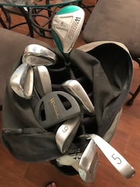 Lots of Golf Clubs and Kingpar Deluxe Golf Bag