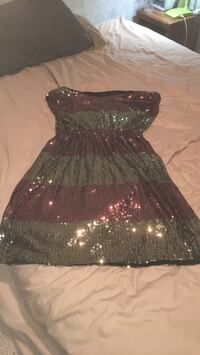 Gorgeous pink and gold sequin dress 390 mi