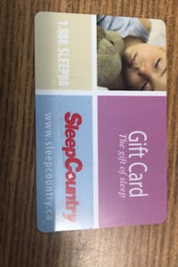 Sleep country Canada $25 gift card Vaughan, L4J 6A7