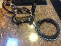 $50 leather horse show halter 974 mi