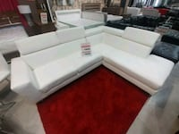 white leather sectional sofa with ottoman Brampton, L6T 1A1