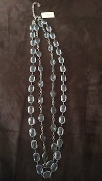 """Silver-colored necklace with lobster lock 17"""" long"""