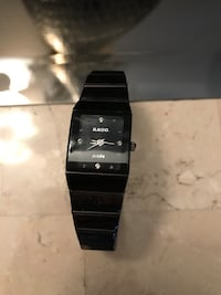 black rado analog watch
