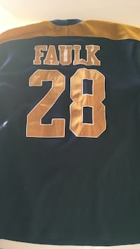 Black and yellow faulk 28 jersey shirt