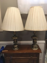 2 antique brass lamps Falls Church, 22042