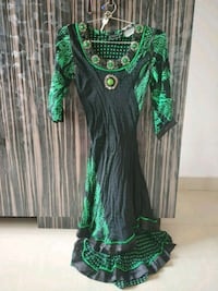 green and black floral sleeveless dress Hyderabad