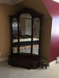 brown wooden cabinet with mirror Surrey, V3S 6H9