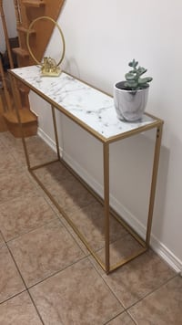 Faux Marble Console
