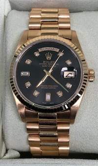 ROLEX President Day-Date w/ Black and Diamond Dial EXCELLENT CONDITION Costa Mesa, 92627