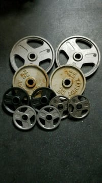 """Olympic 2"""" weight plates pairs of 45x35x10x5x5 North Las Vegas, 89031"""