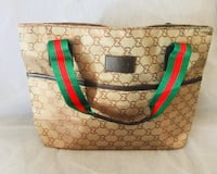 brown and green Gucci leather tote bag Rockville, 20850