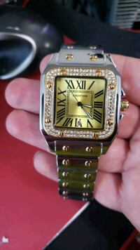 CARTER BRAND WATCH 24K GOLD SLIVER PLATED NEW 8 IN