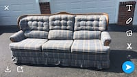 gray and blue plaid 3-seat sofa Nashville, 37221