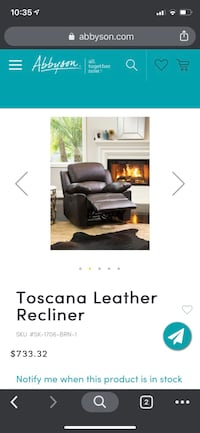 2 new leather recliners Halethorpe, 21227