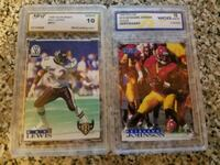 Graded baseball,football,basketball cards
