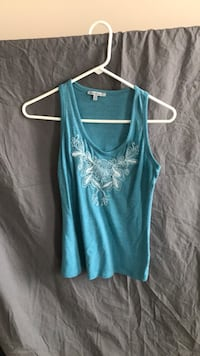 Blue scoop-neck tank top Frederick, 21704