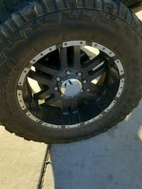 black wheel with tire