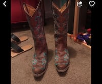 pair of brown leather cowboy boots screenshot Pasadena, 77504
