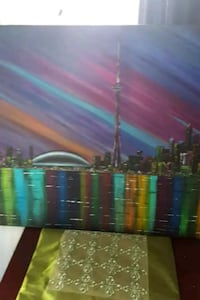 34x24 inches Toronto skyline acrylic painting  Vaughan, L6A 1H6