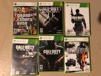 Xbox 360, 6 games and two controllers Hamilton, L9C 6N7