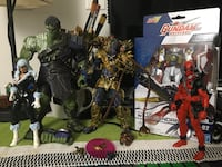 action figure lot (marvel legends, predator, gundam)