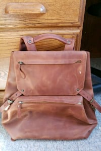 Hand crafted full leather backpack Bag