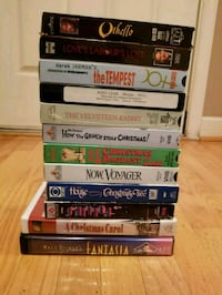 12 VHS sold as set Rockville, 20850