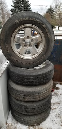 225/75/R16 JEEP 5 ALLOY WHEELS-$450 Innisfil