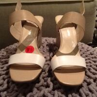 NEW FRANCO SARTO SMALL WEDGE LEATHER SANDALS WITH TAGS SIZE 9.5 St. Thomas, N5P 0A1