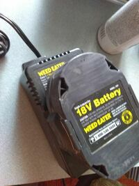 Weed eater 18v battery with charger