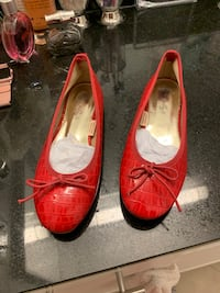 Pair of new red leather flats  费尔法克斯, 22030