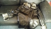 Fur leather coat Barclay