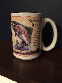 Extra large rainbow trout mug  Gainesville, 20155