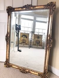 """Large french Antique wooden mirror 44""""X32"""" """"SERIOUS BUYERS ONLY """" Gainesville, 20155"""