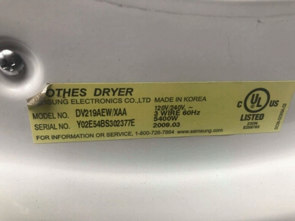Samsung set washer and Dryer Electric    093fd957-aba9-4f44-8c46-faa863112c1f
