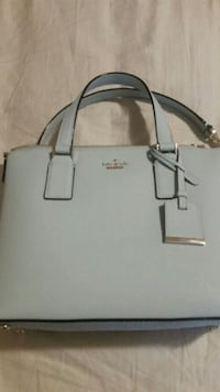 gray and white leather tote bag Mississauga, L5M 5T9
