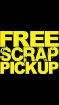 (Free) I pick up Appliances/other metals free