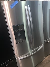 New Whirlpool scratch/dent stainless steel french doors fridge Baltimore, 21223